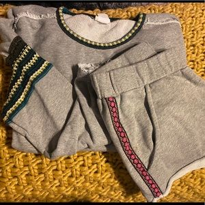 NATURAL LIFE sweatshirt/shorts set! Like NEW!
